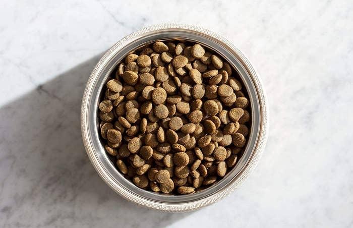 The dry dog food
