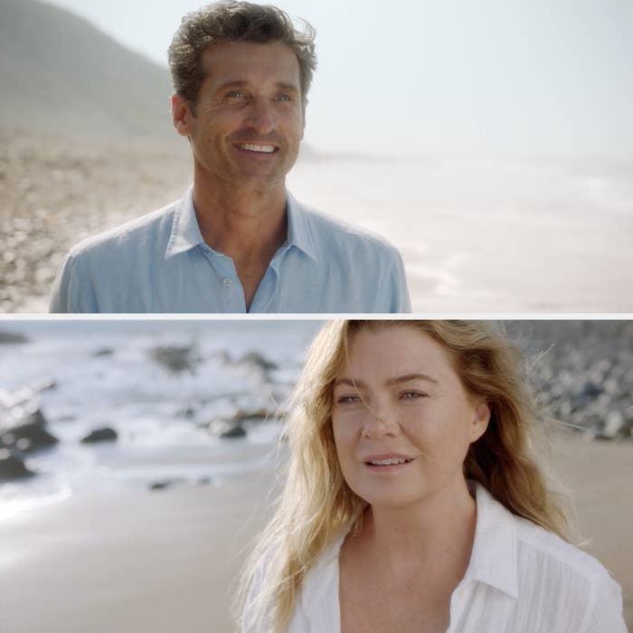 Derek and Meredith reuniting on Grey's Anatomy
