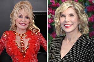 Dolly Parton and Christine Baranski