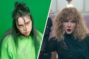Billie Eilish and Taylor Swift being stereotypical Slytherins