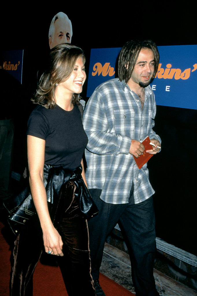 "Jennifer Aniston and Adam Duritz attending the ""Mr. Jenkins Soiree"" in 1995"