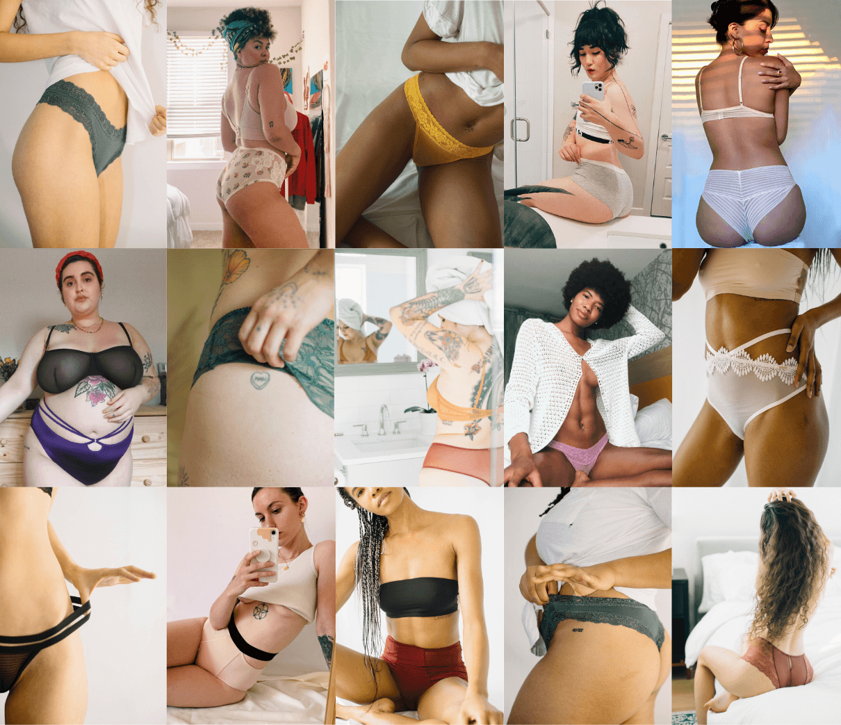 various people wearing underwear from Underclub
