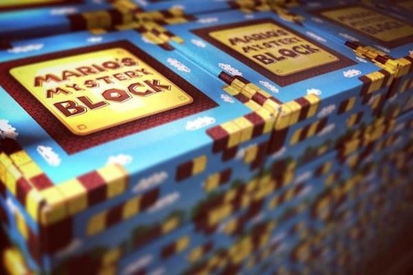 a Mario's mystery Block box