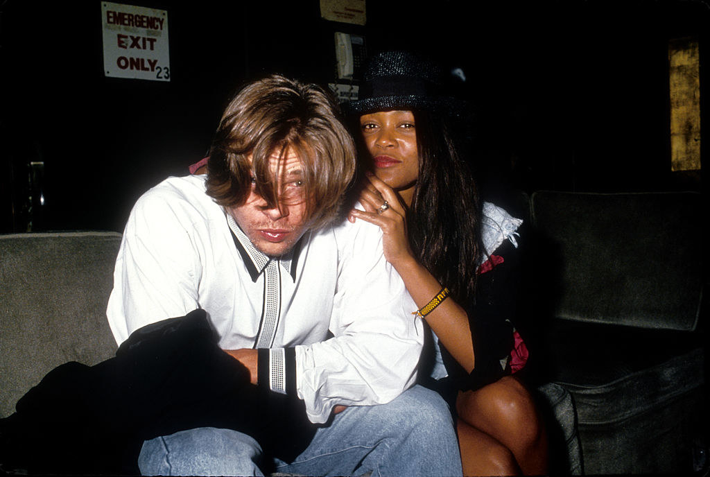 Brad Pitt and Robin Givens pose for a portrait in LA, circa 1989