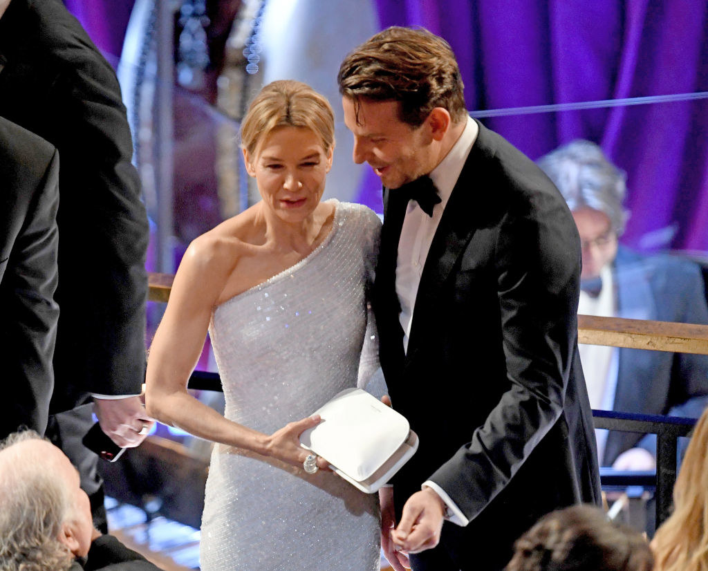 Renée Zellweger and Bradley Cooper attend the 92nd Annual Academy Awards at Hollywood