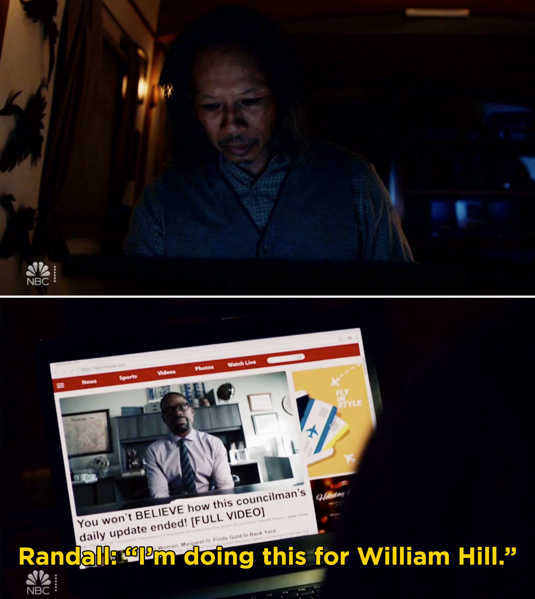 "Randall saying, ""I'm doing this for William Hill"""