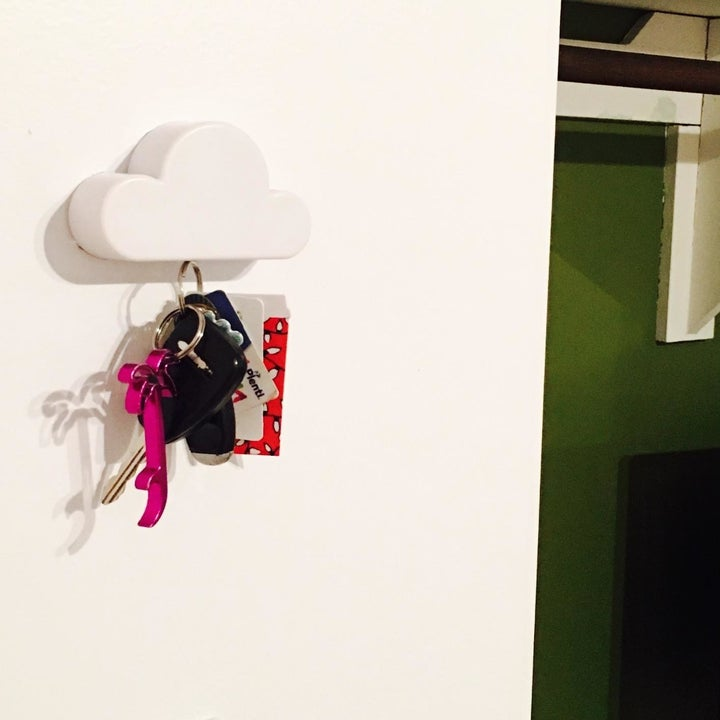 the key holder in use from a farther angle