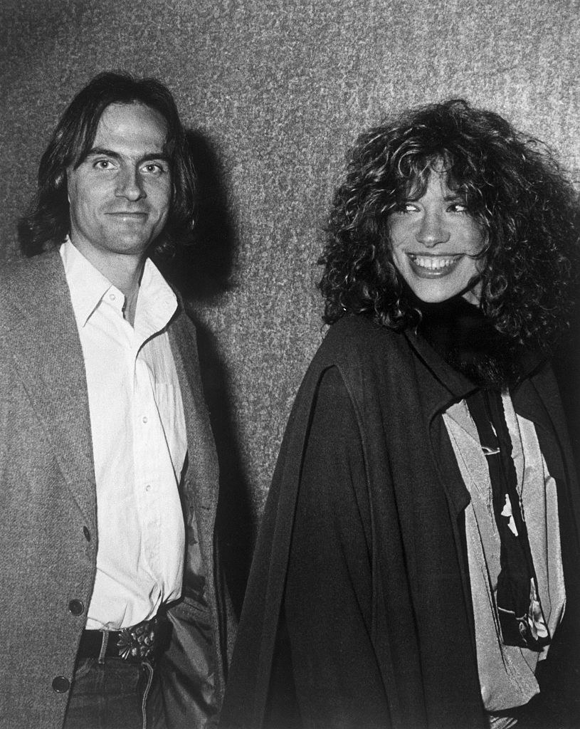 """James Taylor and Carly Simon at """"The Last Waltz"""" movie premiere in the late '70s"""