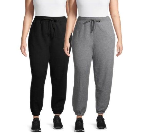 Black and gray sweatpants