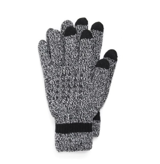 A pair of gray gloves