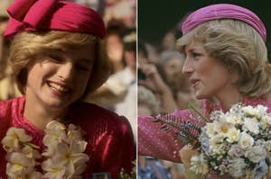 Emma Corrin as Diana in