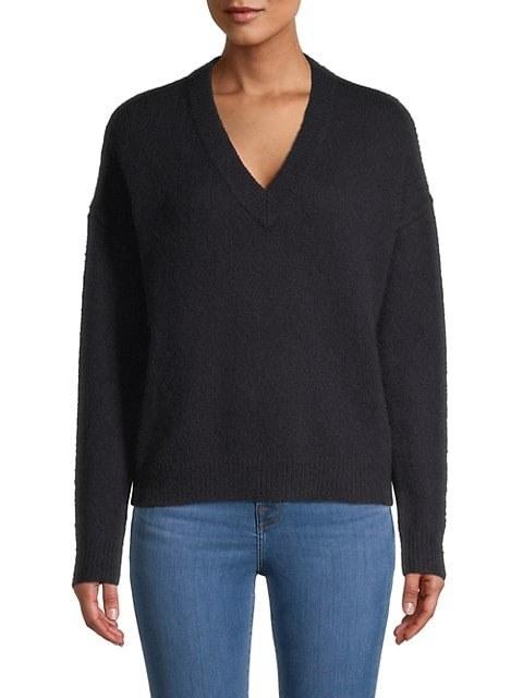 Model in the black sweater