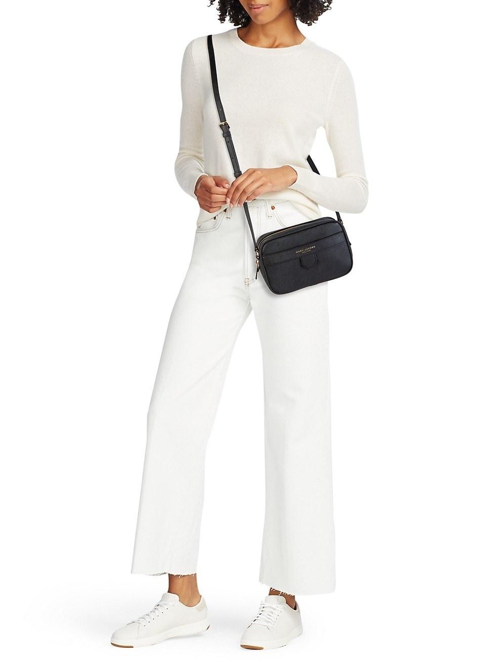 Model in the black bag