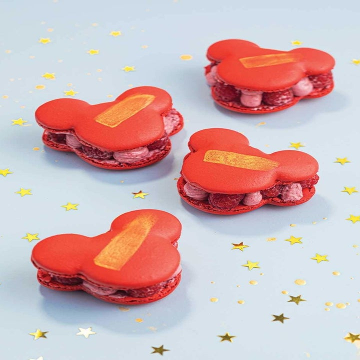 red mickey macarons