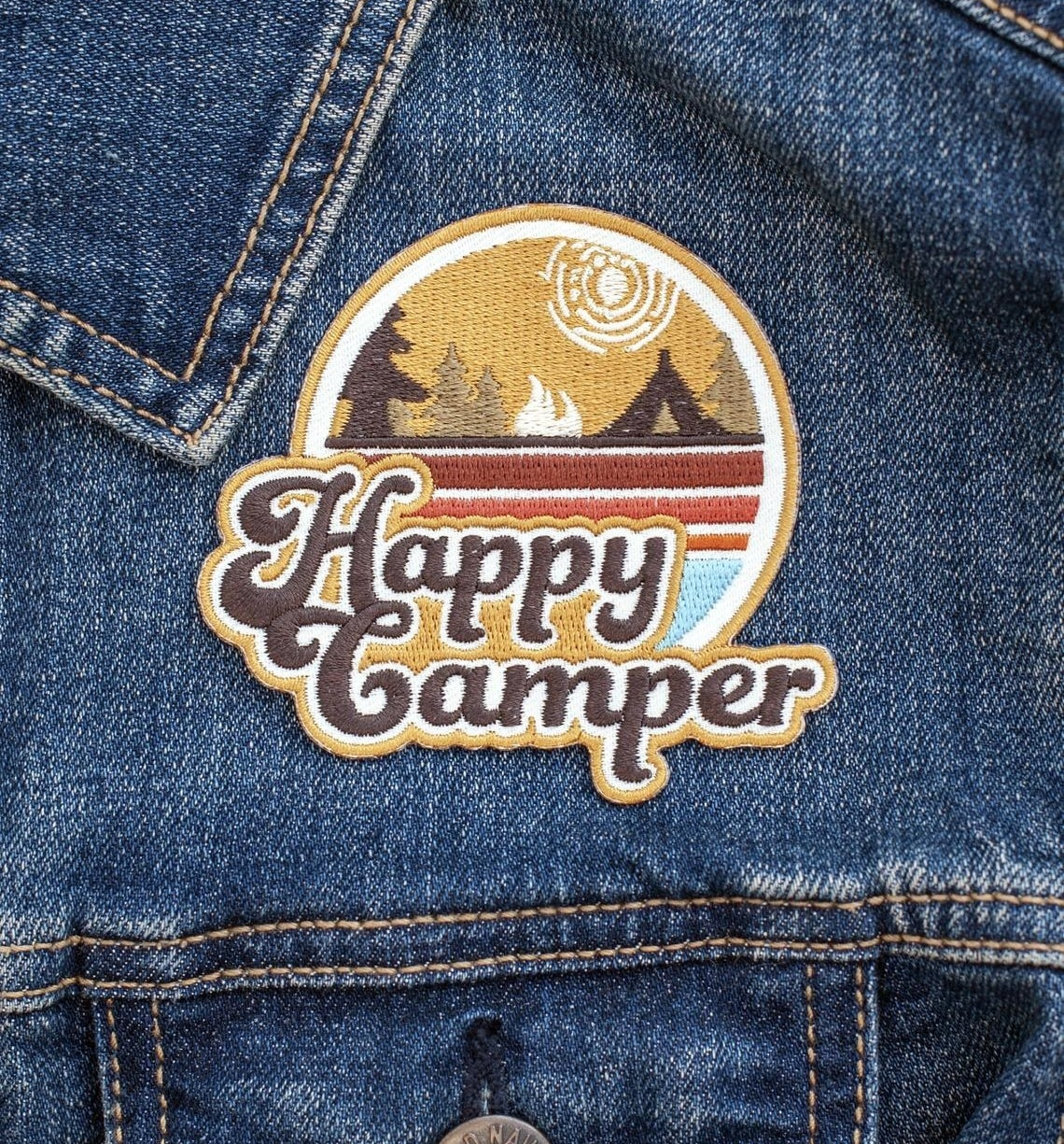 The patch on a jean jacket