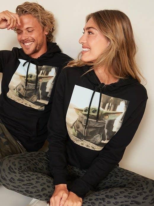 couple in pajamas