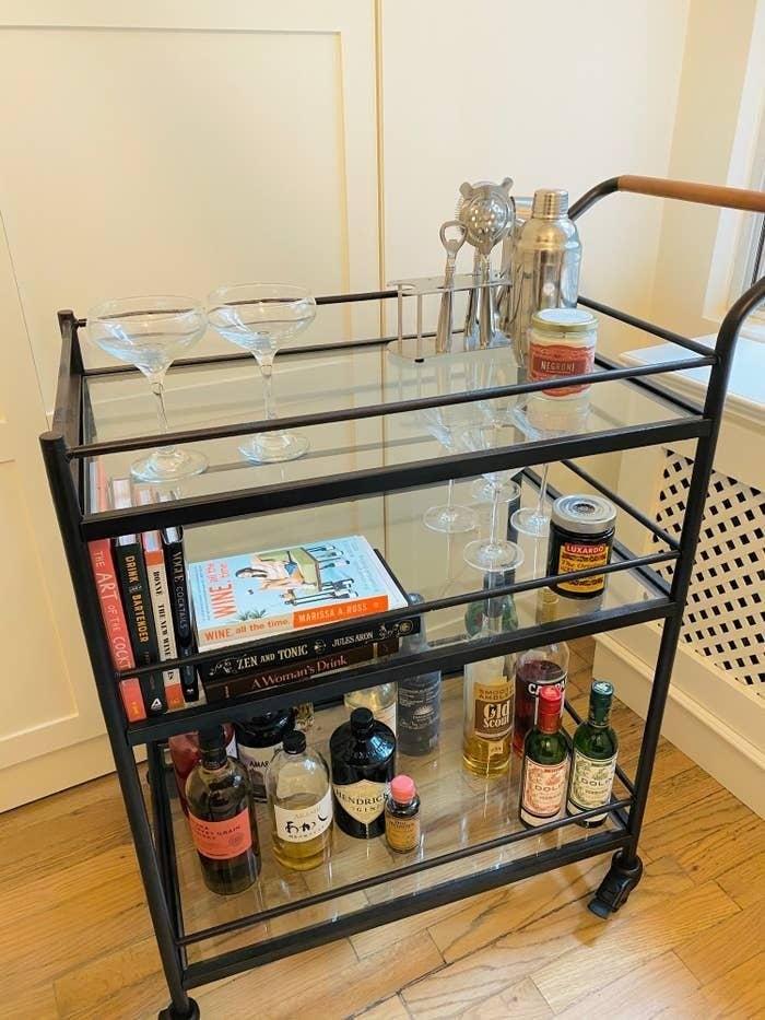 My at-home bar cart