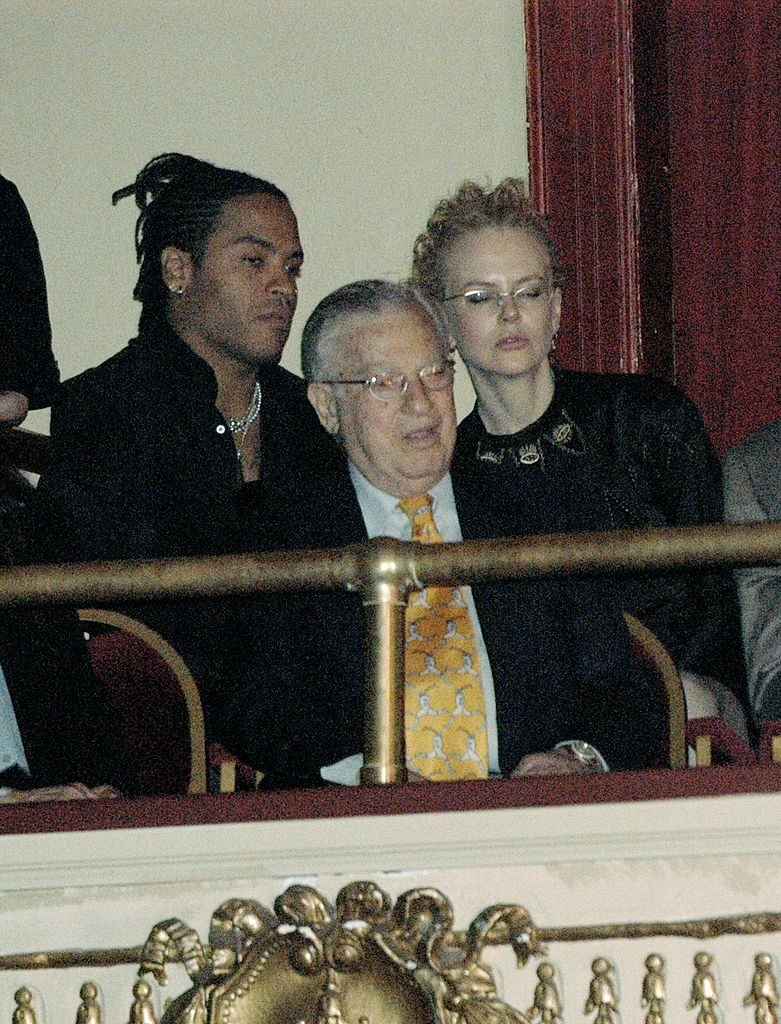 Lenny Kravitz and Nicole Kidman at the Apollo Theater for the Gregory Hines Memorial Celebration