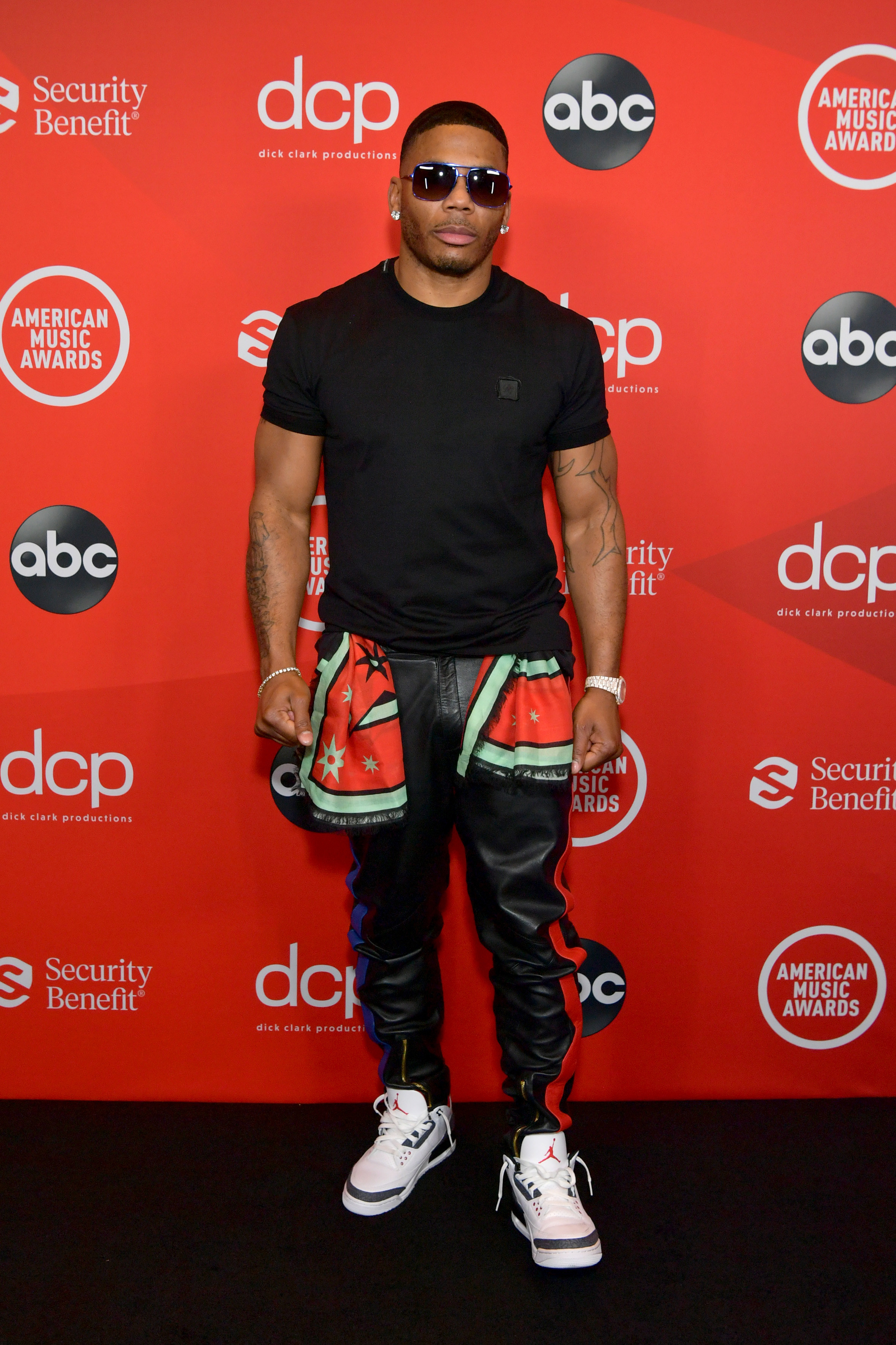 Nelly attends the 2020 American Music Awards