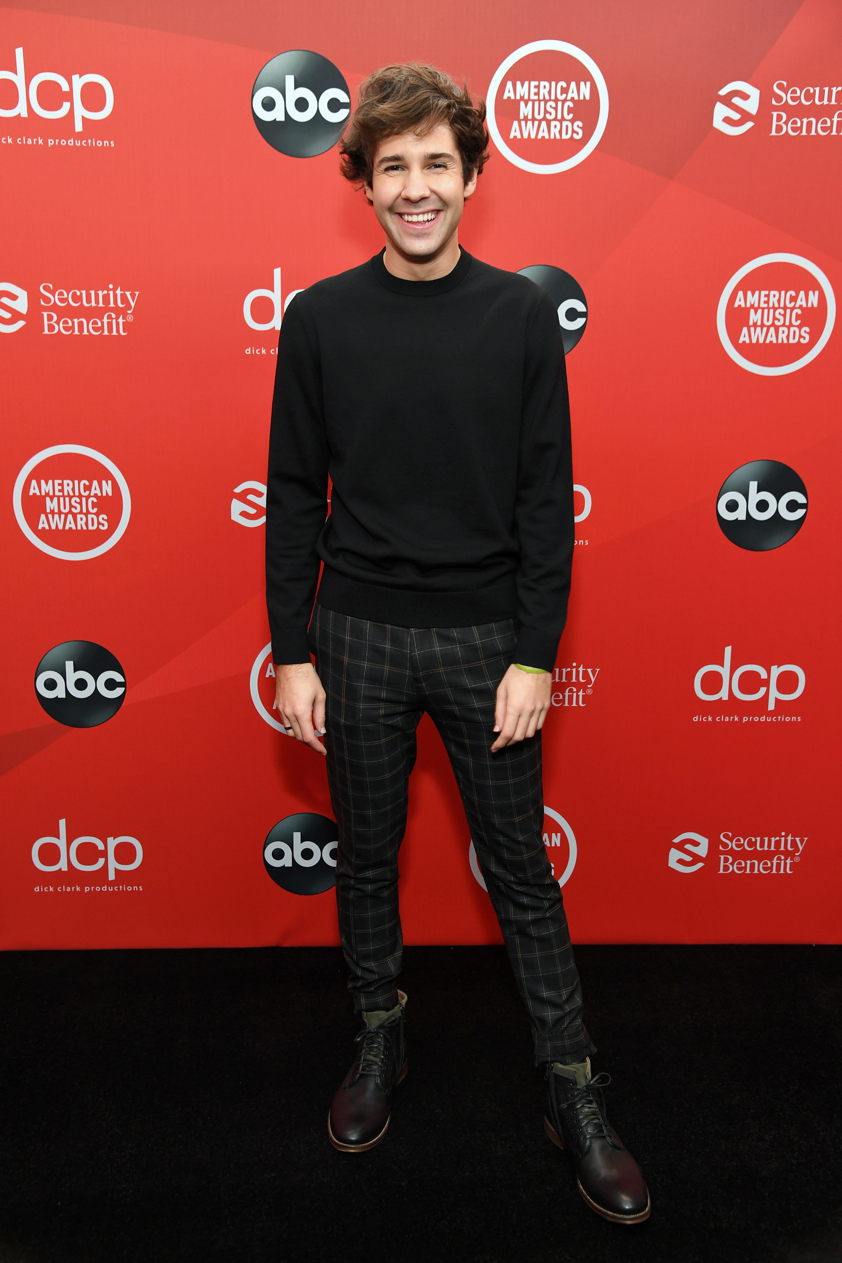 David Dobrik attends the 2020 American Music Awards