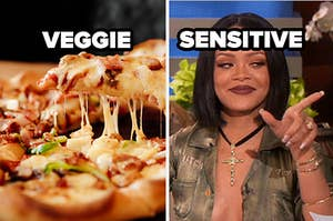 veggie and sesntive labels