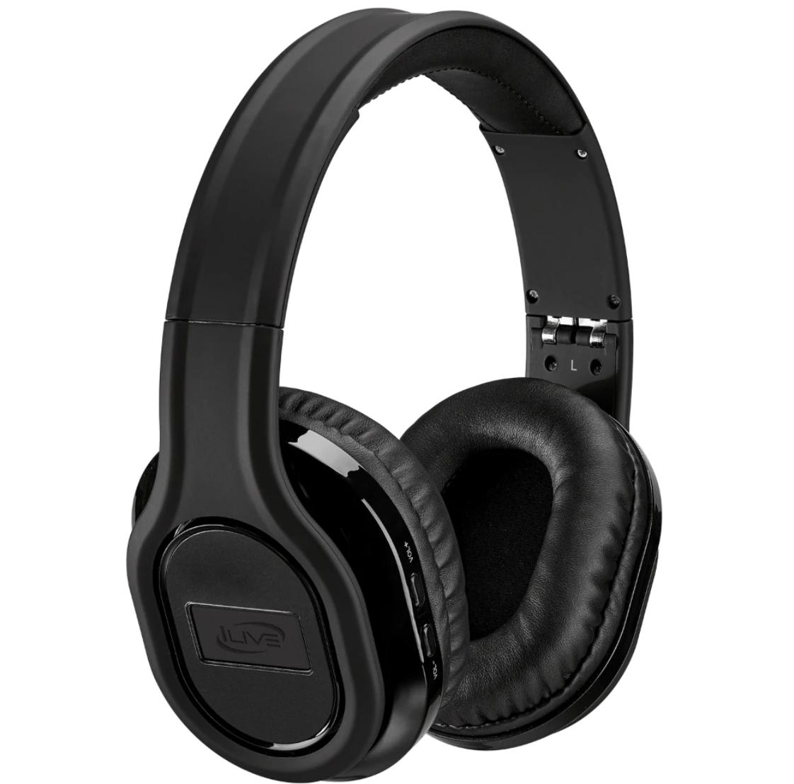 black over ear headphones