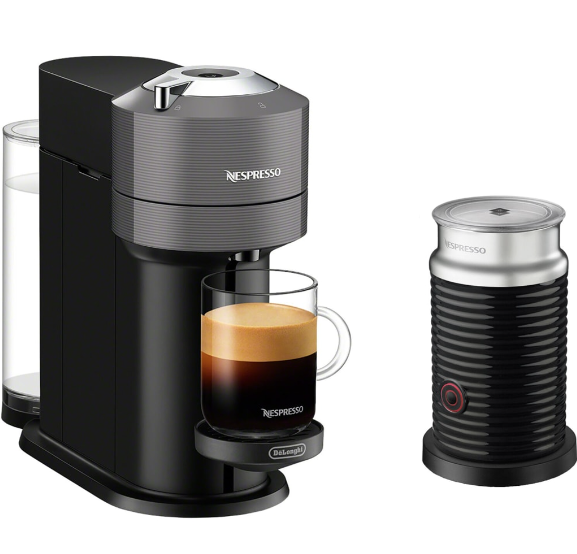 nespresso machine and the Aeroccino frother