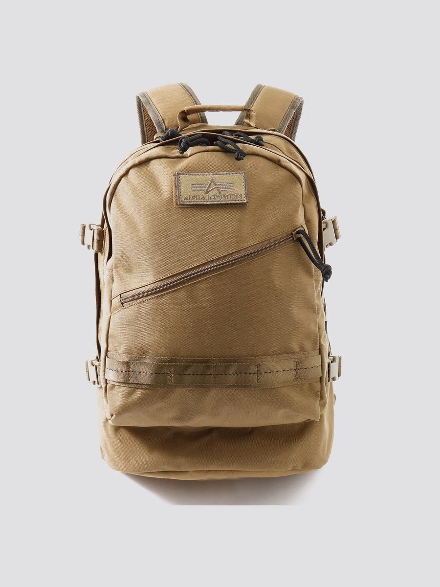 the mission backpack in khaki