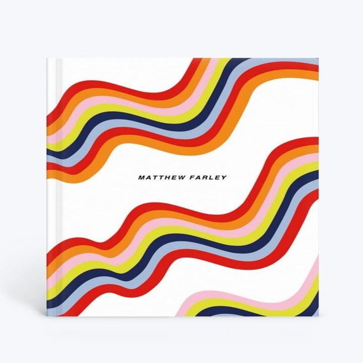 A rainbow wave notebook