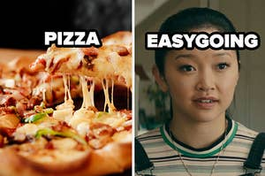PIZZA and easy going label