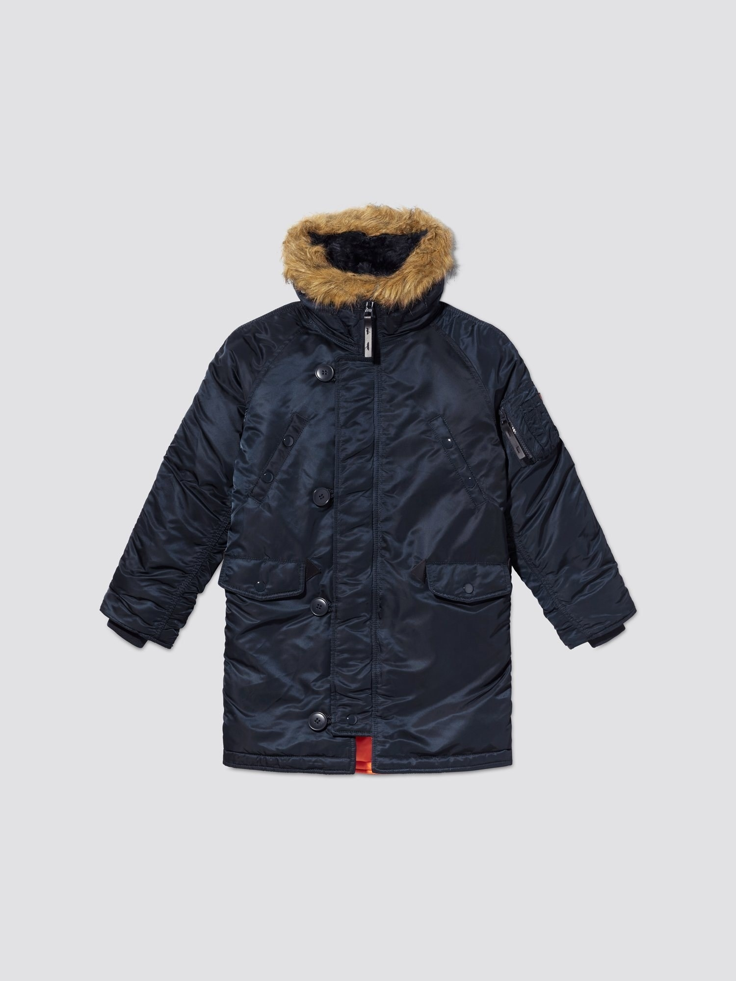 the n-3b parka y in replica blue