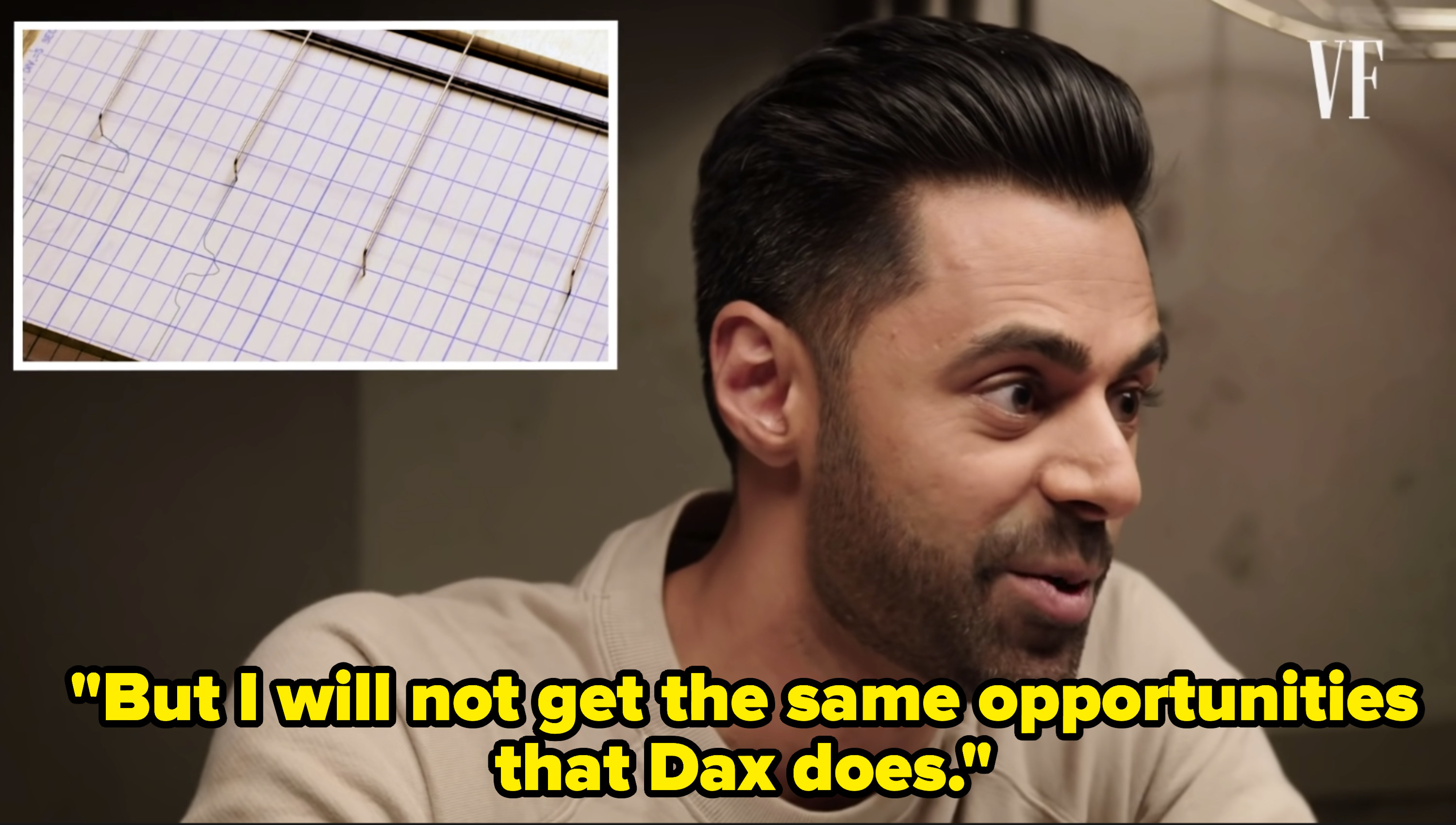 """Hasan Minhaj says """"But I will not get the same opportunities that Dax does"""""""