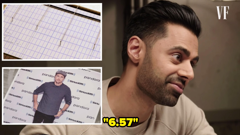 Hasan Minhaj takes a a lie detector test and rates Dax a 6.57