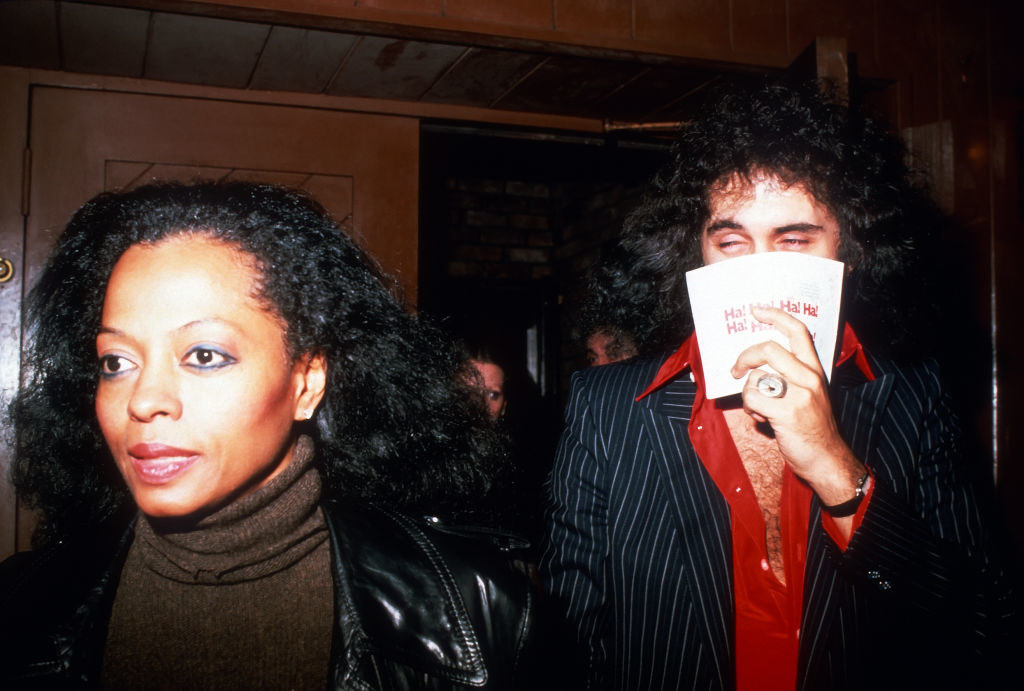 Diana Ross and Gene Simmons (covering his face) in New York City in 1979