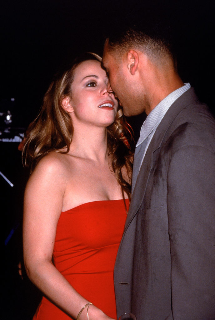 Mariah Carey and Derek Jeter at P. Diddy's birthday party