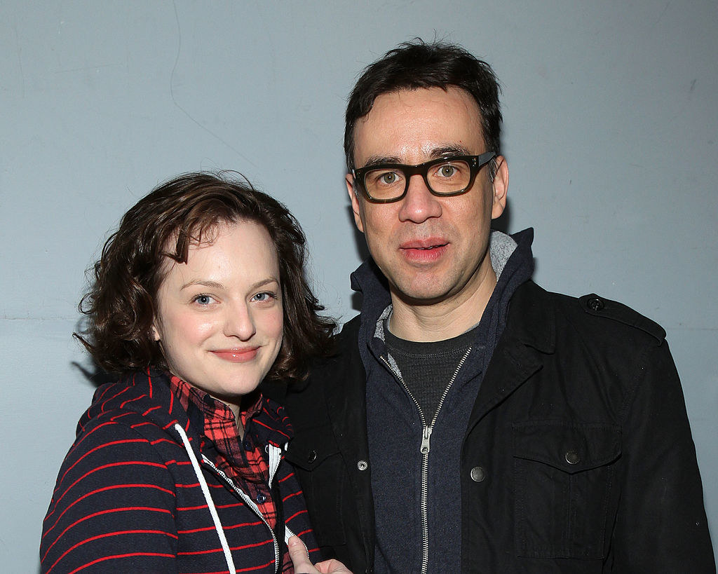 Elisabeth Moss and Fred Armisen attending an event in New York City in 2010