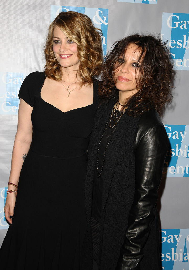 "Linda Perry and Clementine Ford attend the LA Gay & Lesbian Center's ""An Evening With Women"" event in 2010"