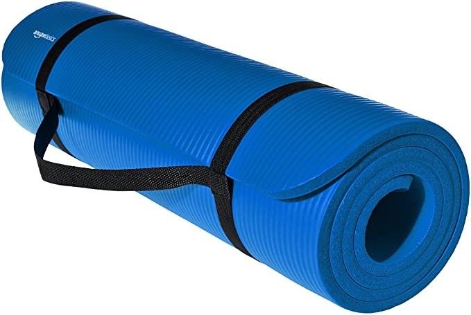 Blue yoga mat,