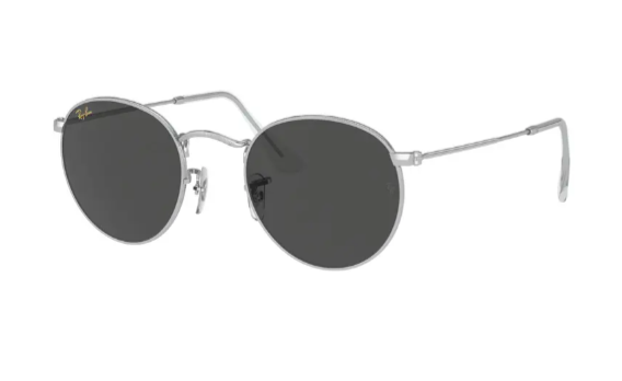 Ray Ban icons retro sunglasses with round lenses in gold leo/dark grey
