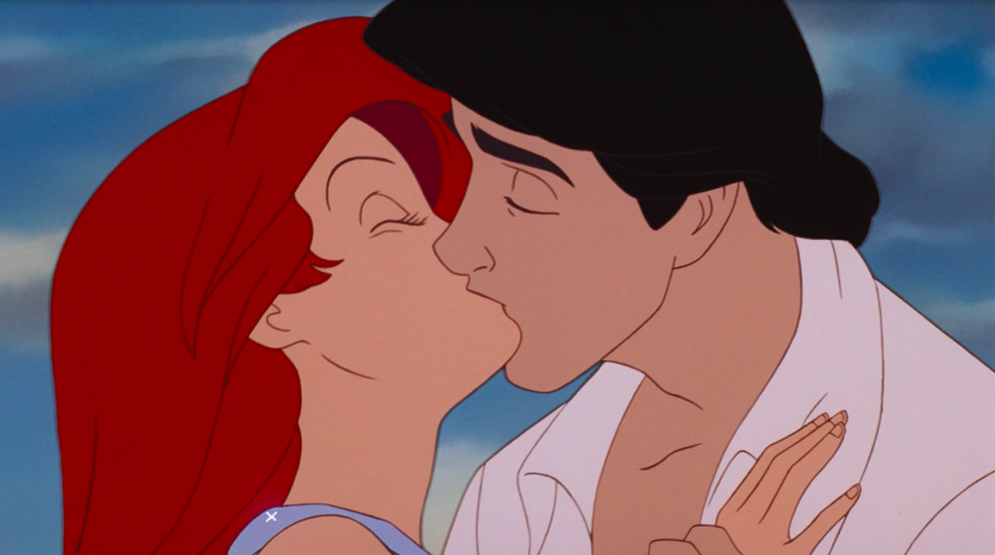 Ariel and Eric kiss
