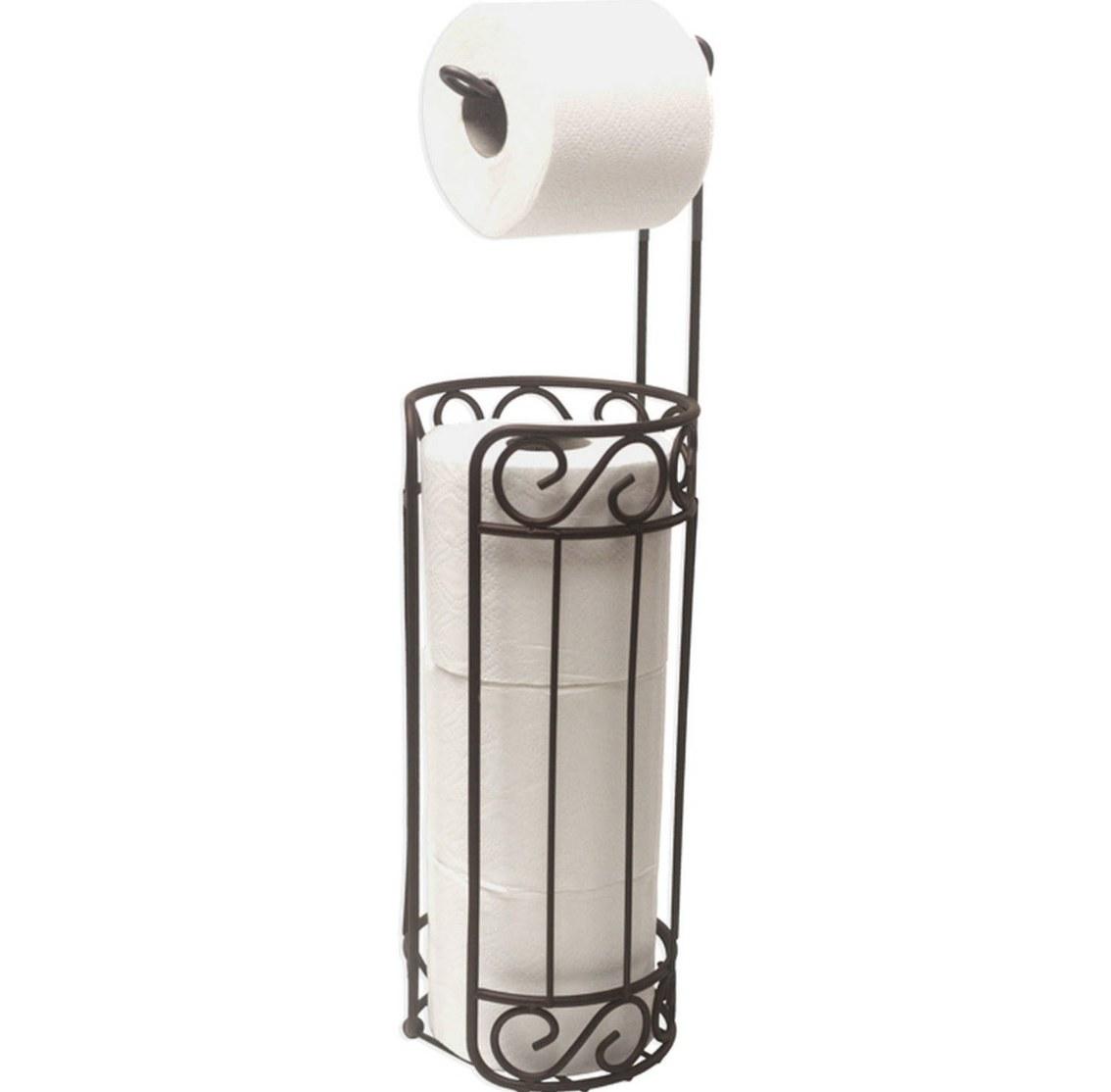 The bronze toilet paper holder and dispenser