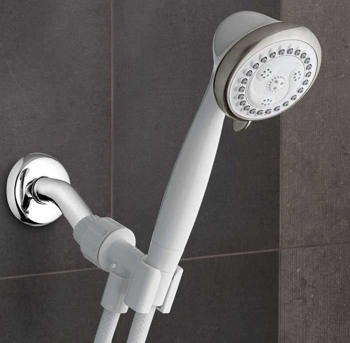 The ecoflow handheld showerhead in white