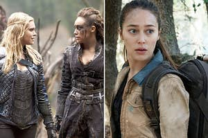 "Clarke and Lexa and Alicia from ""Fear the Walking Dead"""
