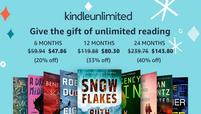 The pricing of the Kindle Unlimited subscription