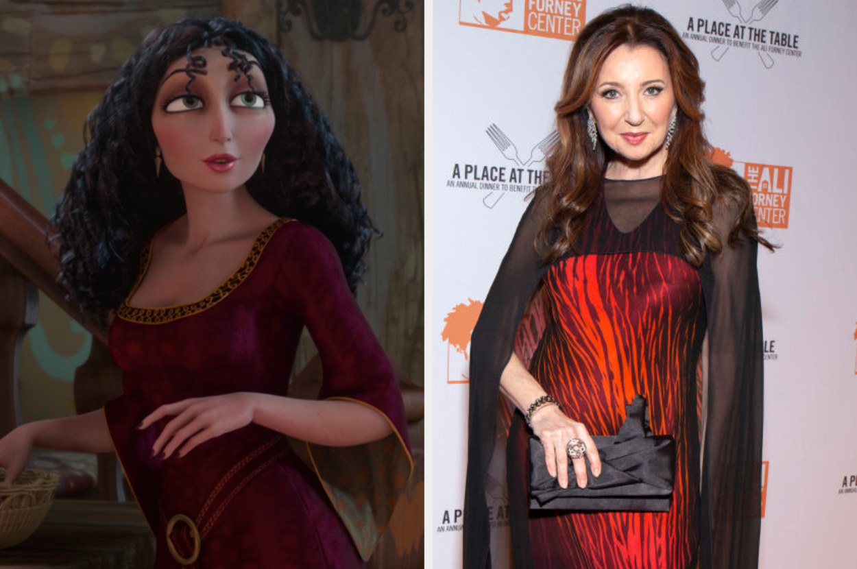 """Mother Gothel in """"Tangled"""" alongside Donna Murphy in 2019"""