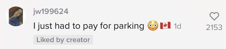 Person saying they just had to pay for parking.