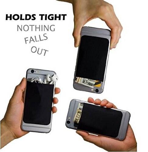 Black adhesive phone wallet.