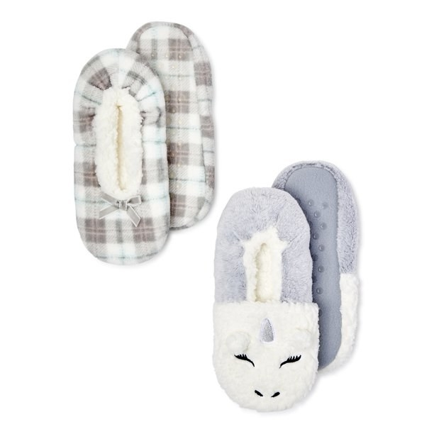 Unicorn slipper sock two-pack