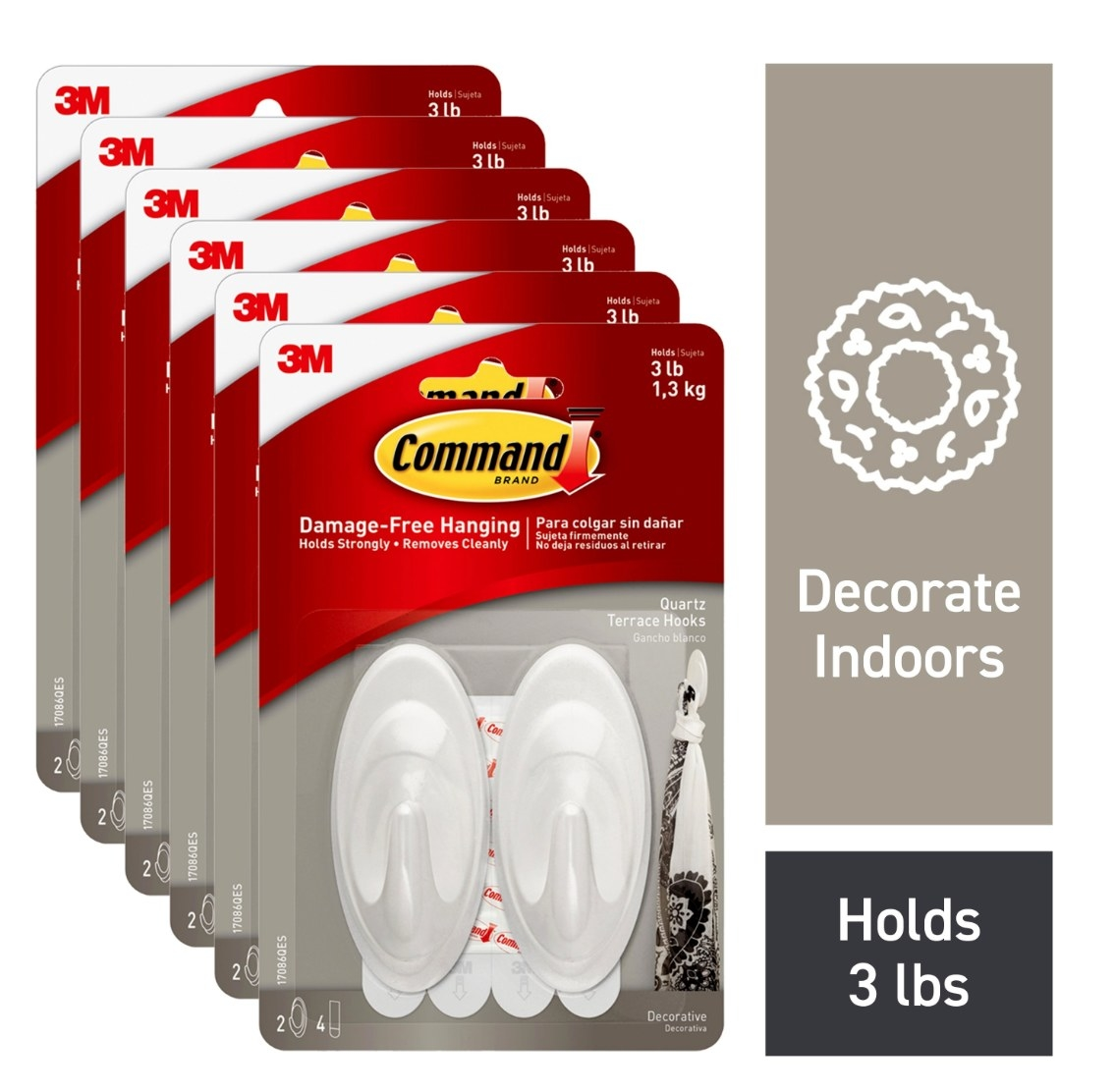 The 12 pack of command hooks in their packages