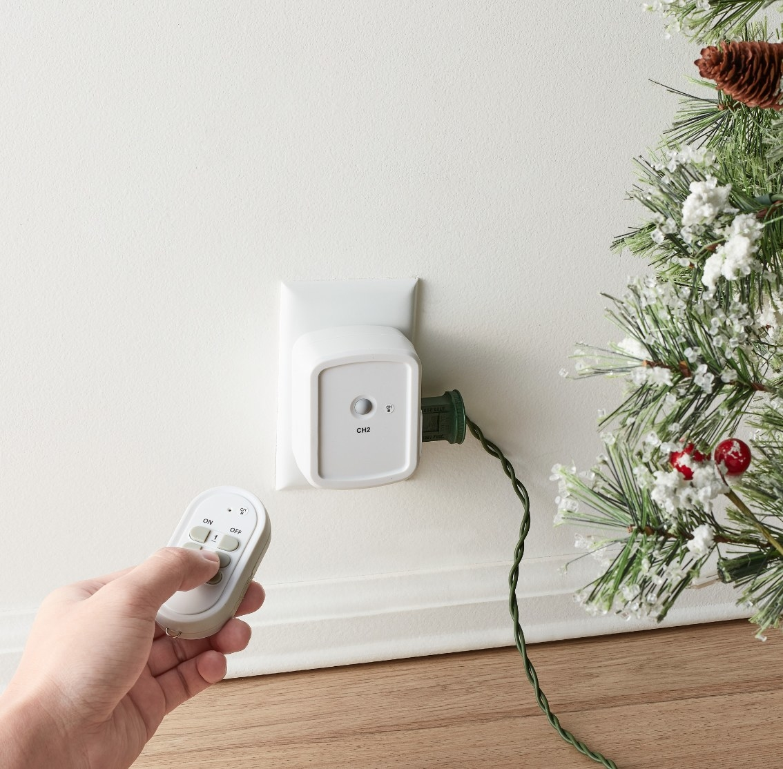 The wireless outlet and remote